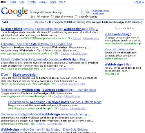 Sveriges bästa webbdesign
